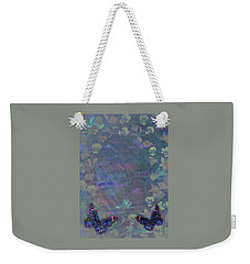 Weekender Tote Bag featuring the painting Fantasy Butterfly Painted Pansy by Judith Cheng