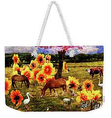 Fantasy Farm Weekender Tote Bag by Judi Saunders