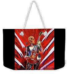 Fantasy Heavy Metal Skull Guitarist Weekender Tote Bag