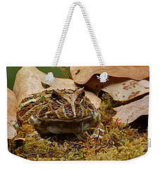 Weekender Tote Bag featuring the photograph Fantasy - Horned Frog by Nikolyn McDonald