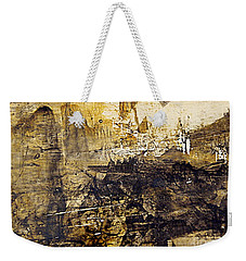 Weekender Tote Bag featuring the painting Fantasy In Sepia by Nancy Kane Chapman