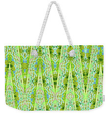 Weekender Tote Bag featuring the digital art Fantasy Lime Forest Tapestry by Ann Johndro-Collins