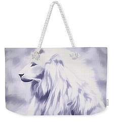 Fantasy White Lion Weekender Tote Bag