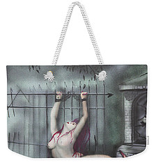 Weekender Tote Bag featuring the painting Fantasy4 by Tbone Oliver