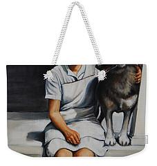 Farm Dog Weekender Tote Bag by Jean Cormier