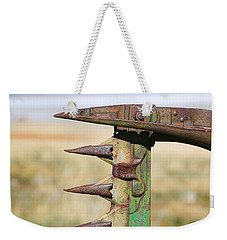 Weekender Tote Bag featuring the photograph Farm Equipment 1 by Ely Arsha