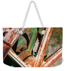 Weekender Tote Bag featuring the photograph Farm Equipment 2 by Ely Arsha