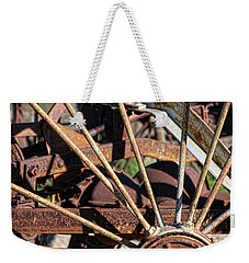 Weekender Tote Bag featuring the photograph Farm Equipment 5 by Ely Arsha