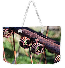 Weekender Tote Bag featuring the photograph Farm Equipment 6 by Ely Arsha