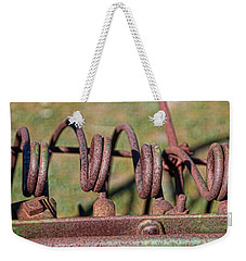 Weekender Tote Bag featuring the photograph Farm Equipment 7 by Ely Arsha