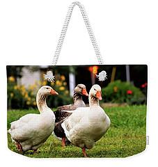 Farm Geese Weekender Tote Bag