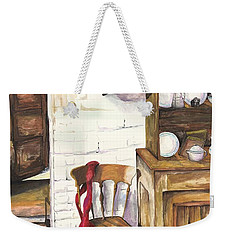 Weekender Tote Bag featuring the painting Farm House by Darren Cannell