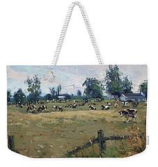 Farm In Terra Cotta On Weekender Tote Bag