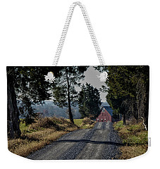 Weekender Tote Bag featuring the photograph Farm Lane by Robert Geary