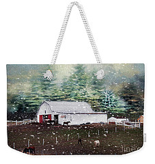 Weekender Tote Bag featuring the photograph Farm Life by Darren Fisher