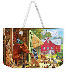 Farm Scene In America Weekender Tote Bag