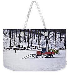 Farm Sleigh Weekender Tote Bag