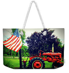 Farmall And Flag Weekender Tote Bag
