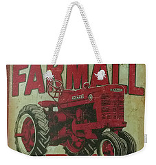 Weekender Tote Bag featuring the photograph Farmall Farm Sign by Chris Flees