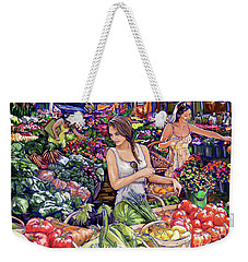Weekender Tote Bag featuring the painting Farmer Market H by Tim Gilliland