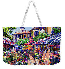 Weekender Tote Bag featuring the painting Farmer Market by Tim Gilliland