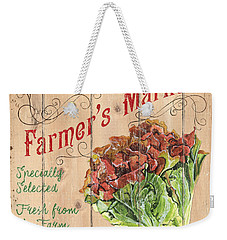 Farmer's Market Sign Weekender Tote Bag by Debbie DeWitt