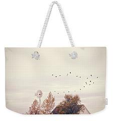 Farmhouse And Windmill Weekender Tote Bag by Jill Battaglia