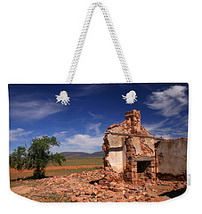 Farmhouse Cottage Ruin Flinders Ranges South Australia Weekender Tote Bag by Ralph A  Ledergerber-Photography