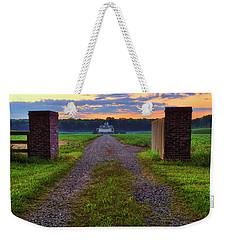 Weekender Tote Bag featuring the photograph Farmhouse Sunrise - Arkansas - Landscape by Jason Politte