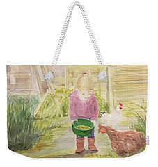 Farm's Life  Weekender Tote Bag by Annie Poitras
