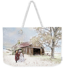 Farmstyle Snowman Weekender Tote Bag by Mary Timman