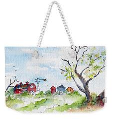 Farmyard From Afar Weekender Tote Bag by Pat Katz