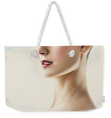 Weekender Tote Bag featuring the photograph Fashion Beauty Portrait by Dimitar Hristov