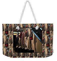 Weekender Tote Bag featuring the photograph Fashion Couture Parade Showroom Tshirts Pillows Towels Curtains Christmas Holidays Festival Birthday by Navin Joshi
