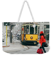 Fashionista In Milan, Italy Weekender Tote Bag