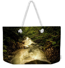 Weekender Tote Bag featuring the photograph Fast Flowing by Ryan Photography
