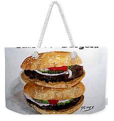 Fast Food Burgers Weekender Tote Bag