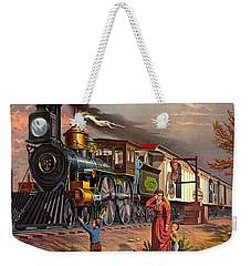 Fast Mail 1875 Weekender Tote Bag by Padre Art