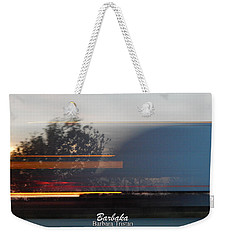 Weekender Tote Bag featuring the photograph Fast Truck Speeding By by Barbara Tristan