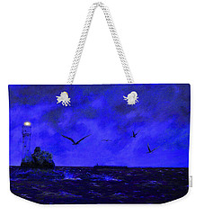 Fastnet Light Ireland Night Weekender Tote Bag