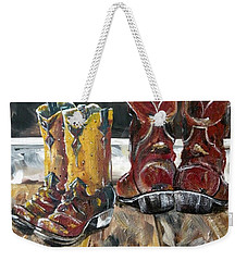 Father And Son Boots Weekender Tote Bag