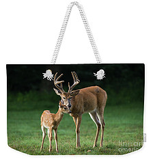 Weekender Tote Bag featuring the photograph Fatherly Advice by Andrea Silies