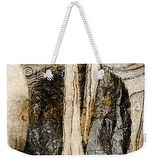 Weekender Tote Bag featuring the photograph Father's Coat by Claire Bull