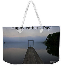 Father's Day Dock Weekender Tote Bag by Douglas Stucky