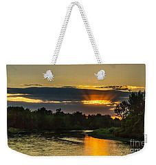 Father's Day Sunset Weekender Tote Bag
