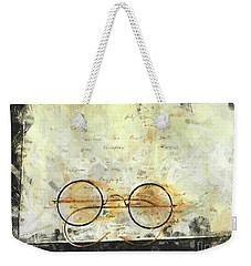 Weekender Tote Bag featuring the photograph Father's Glasses by Claire Bull