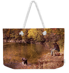 Father,son And Dog Weekender Tote Bag
