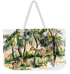Fawn And Doe Weekender Tote Bag
