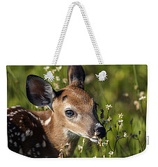 Fawn In Wildflowers Weekender Tote Bag