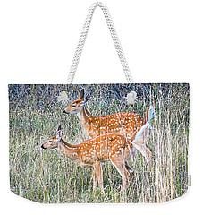Fawns At Bigfork Weekender Tote Bag